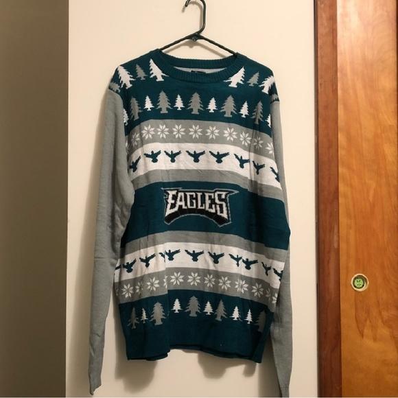 Nfl Sweaters Brand New Philadelphia Eagles Christmas Sweater